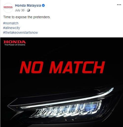 Honda City No Match