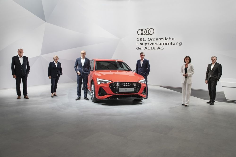 Audi AG Boardmembers at the 2020 AGM