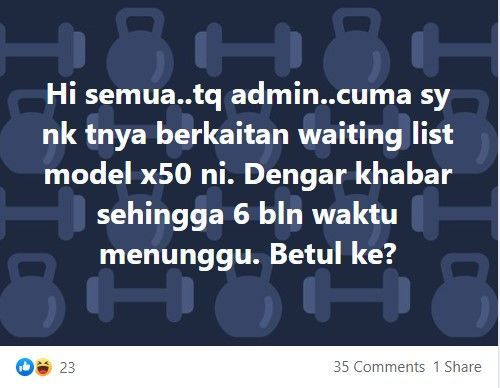 Proton X50 waiting list