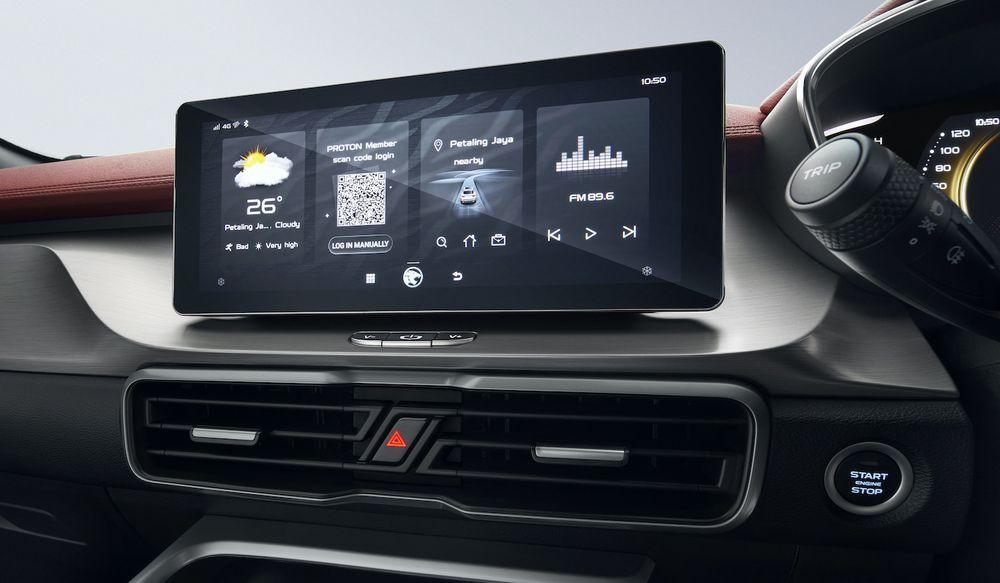 Proton X50 Dashboard