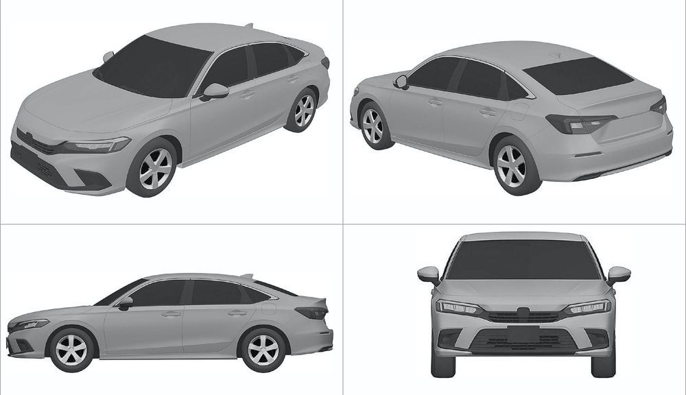 2021 Honda Civic - Patent Filing - Sedan