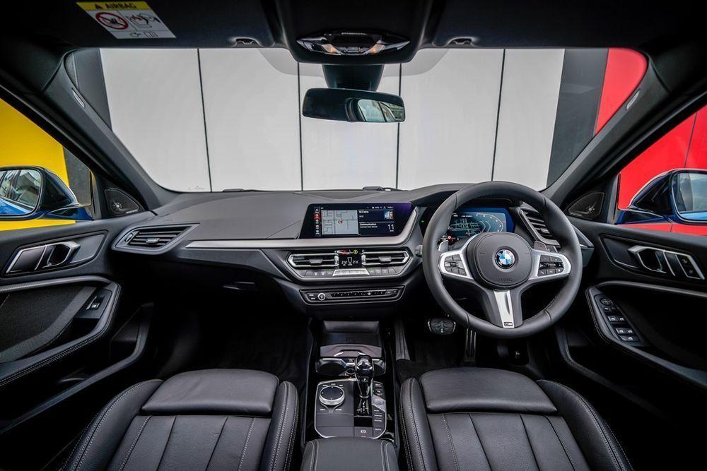 BMW M135 vs Mercedes-AMG A35 interior bmw