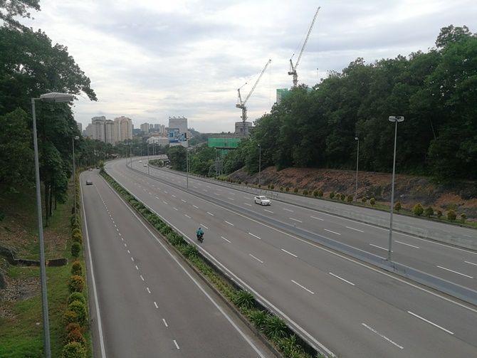 Empty highways Malaysia