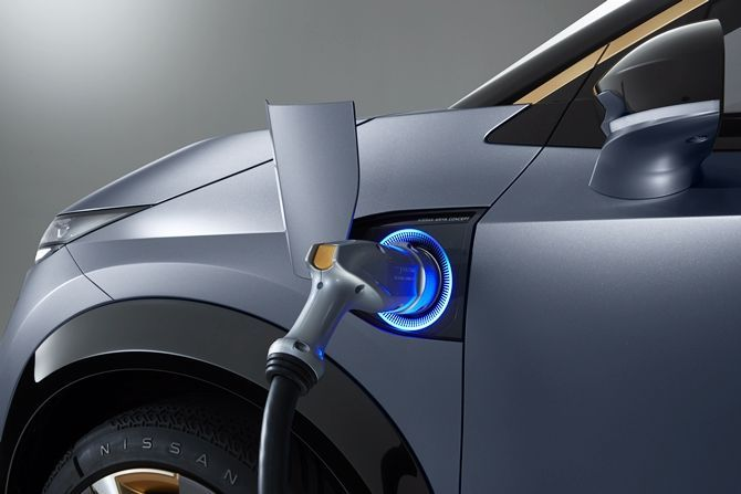 The Ariya Is Nissans Next Big Step For Their EVs Charging Port
