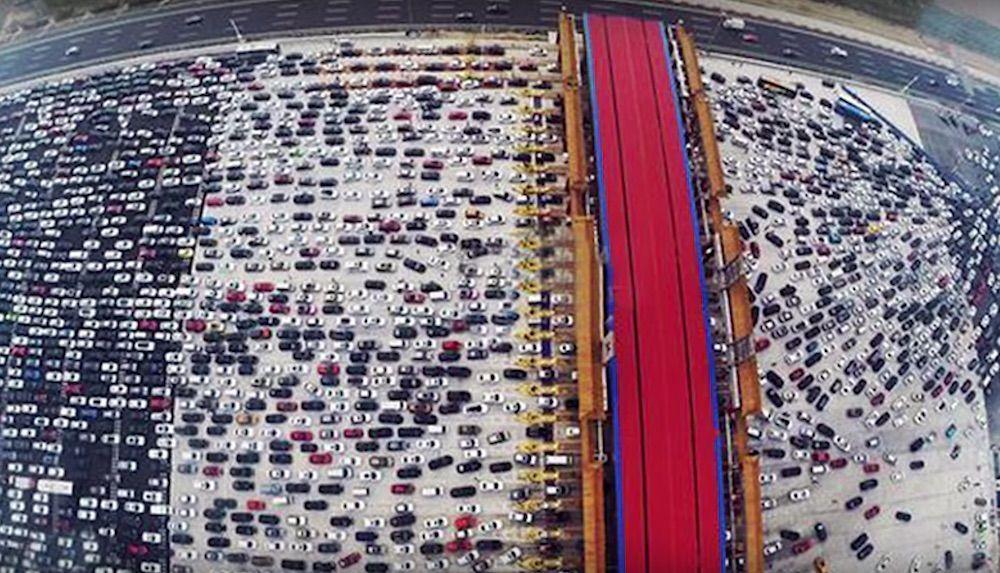 Major traffic jam Malaysia