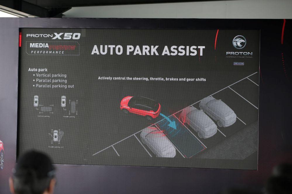 Proton X50 Park Assist