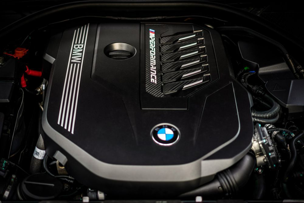 BMW M340i engine bay