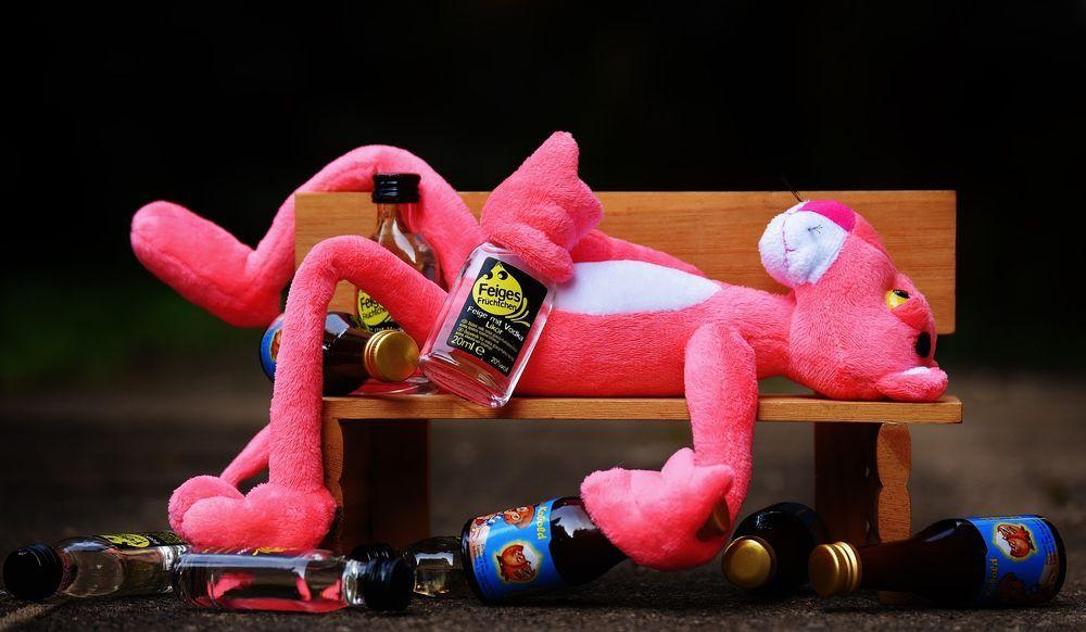 Pink Panther Drunk