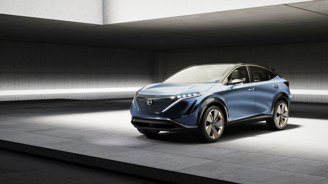 The Ariya Is Nissans Next Big Step For Their EVs Front Three Quarter