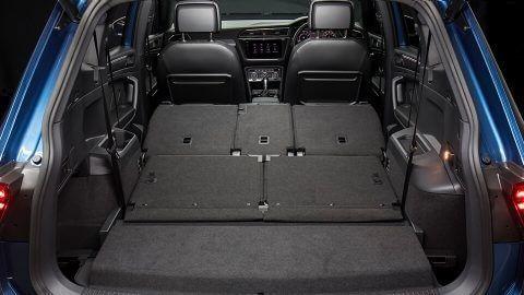 Tiguan Allspace seats folded