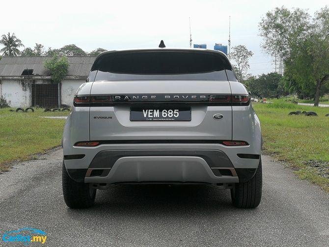 2020 Range Rover Evoque rear view