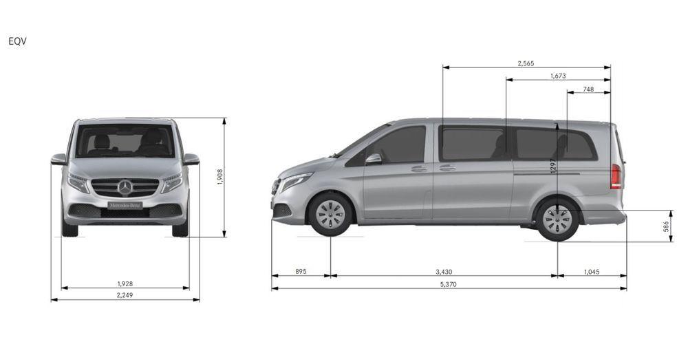 Mercedes-Benz EQV Dimension