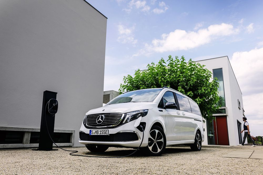 Benz EQV Charging