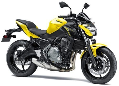 2018 Kawasaki Z650 yellow right