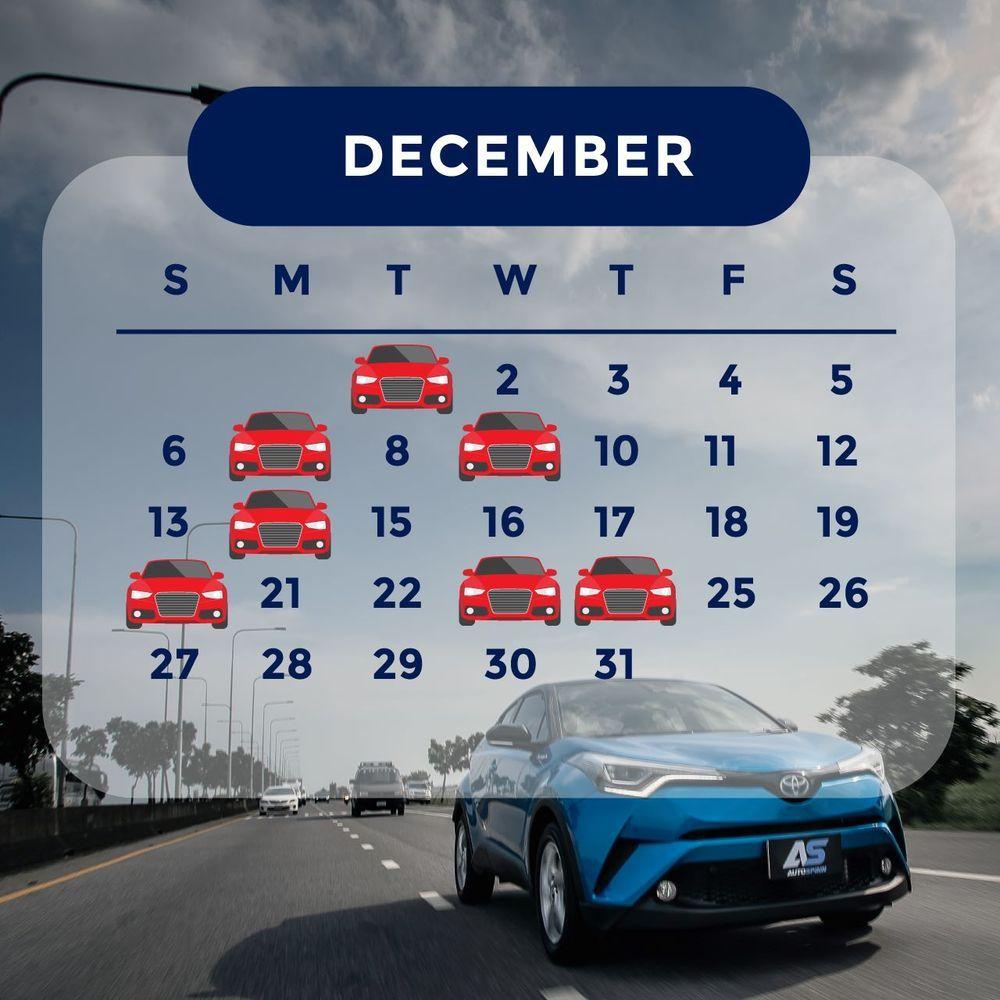 ฤกษ์ออกรถ 2563 เดือนธันวาคม ออกรถวันไหนดี