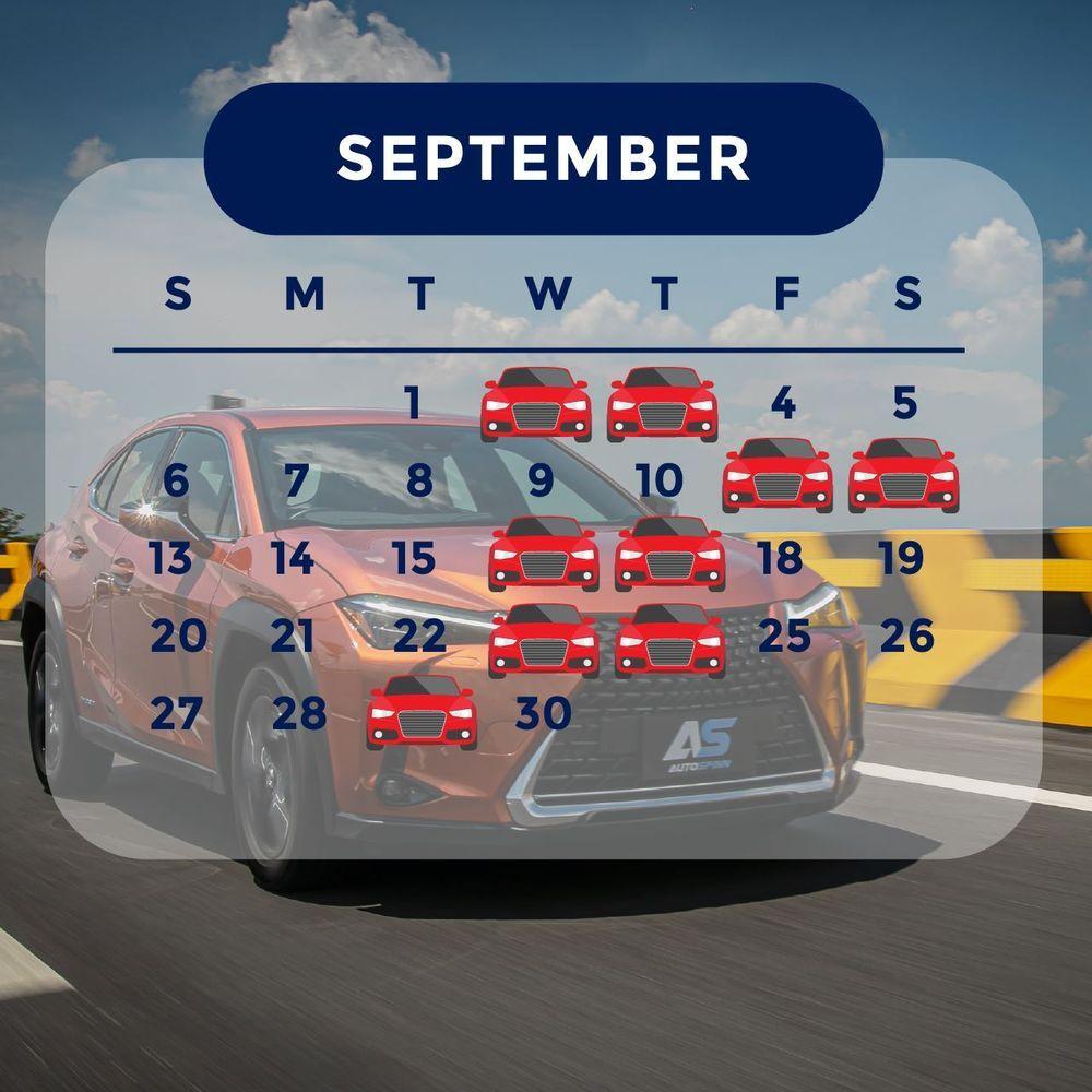 ฤกษ์ออกรถ 2563 เดือนกันยายน ออกรถวันไหนดี