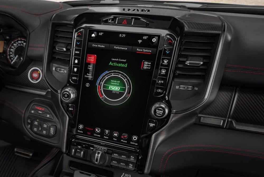 2021 Ram 1500 TRX console