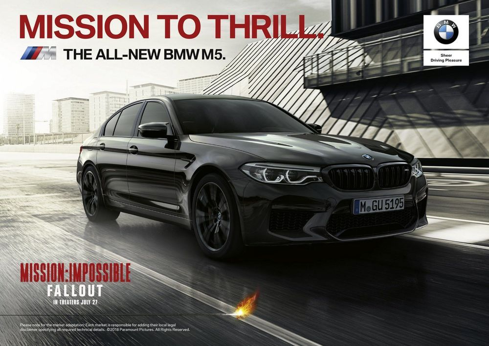 Tom Cruise กับ BMW M5 ใน Mission Impossible : Fallout