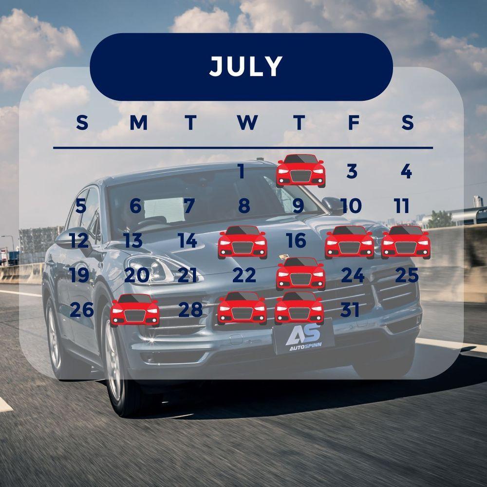 ฤกษ์ออกรถ 2563 เดือนกรกฎาคม ออกรถวันไหนดี