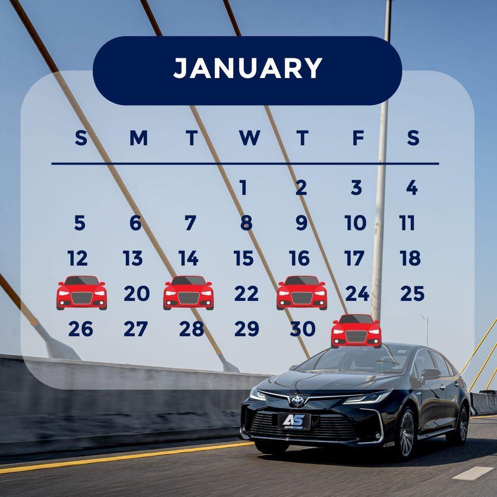 ฤกษ์ออกรถ 2563 เดือนมกราคม ออกรถวันไหนดี