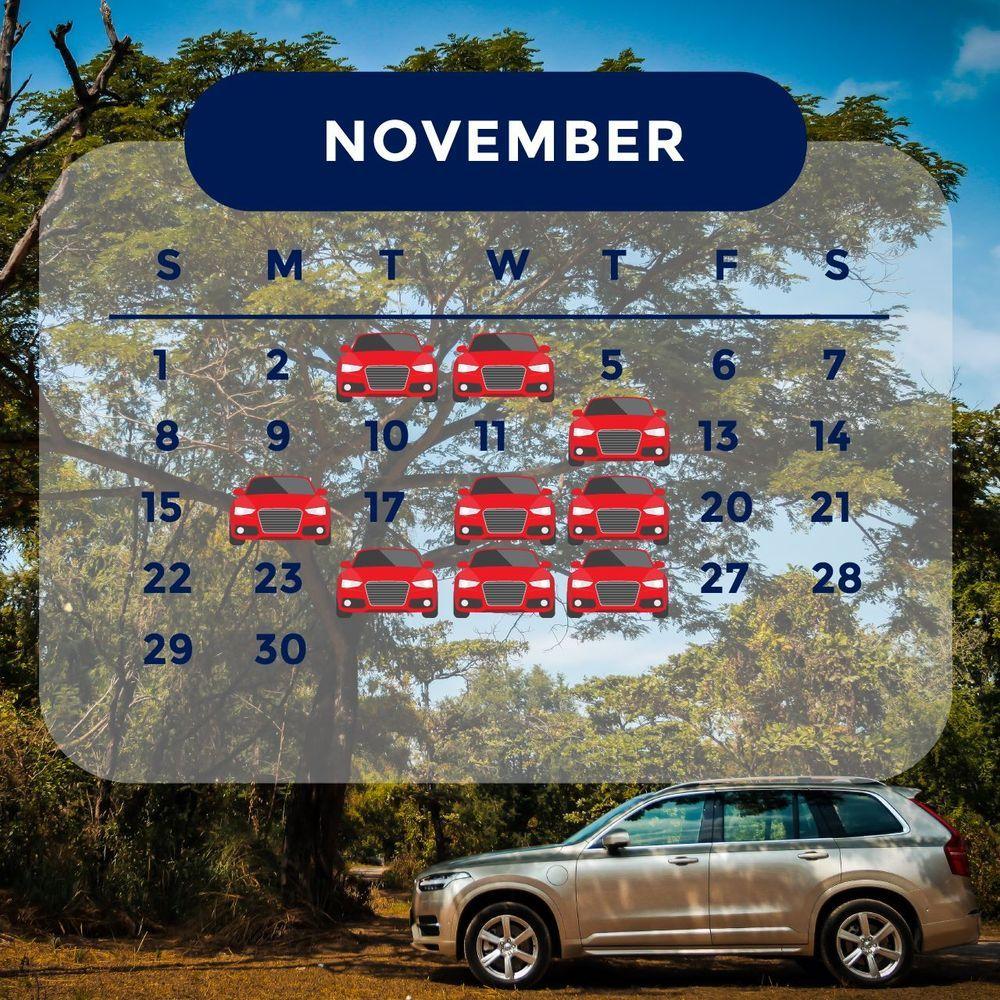 ฤกษ์ออกรถ 2563 เดือนพฤศจิกายน ออกรถวันไหนดี