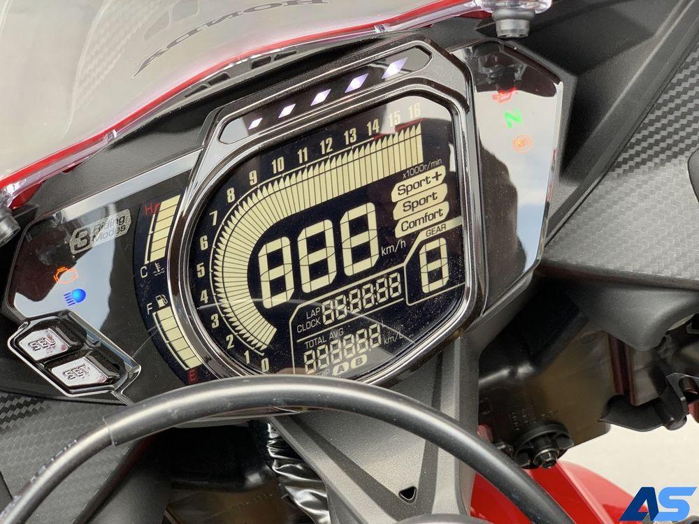 หน้าจอเรือนไมล์ของ Honda CBR250RR