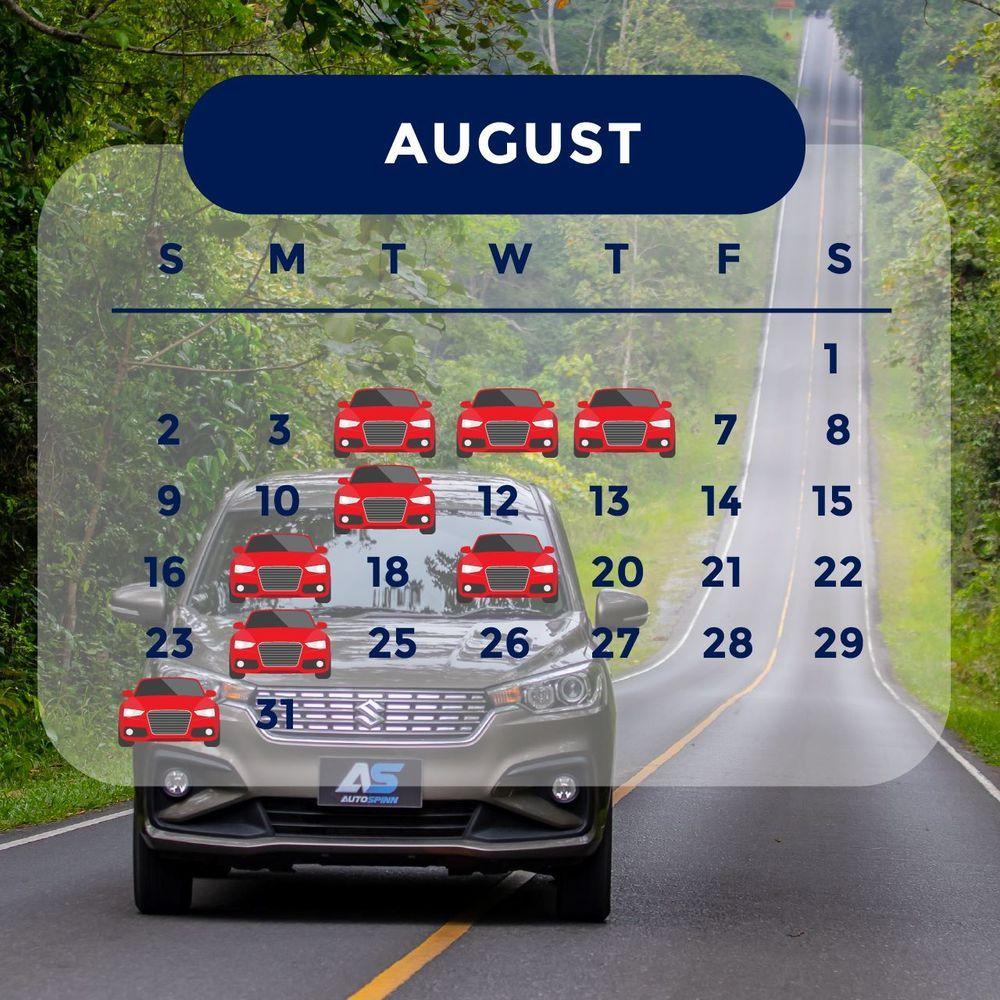ฤกษ์ออกรถ 2563 เดือนสิงหาคม ออกรถวันไหนดี