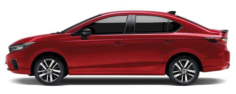 Honda City Hybrid e:HEV 2021 สีแดงอิกไนต์