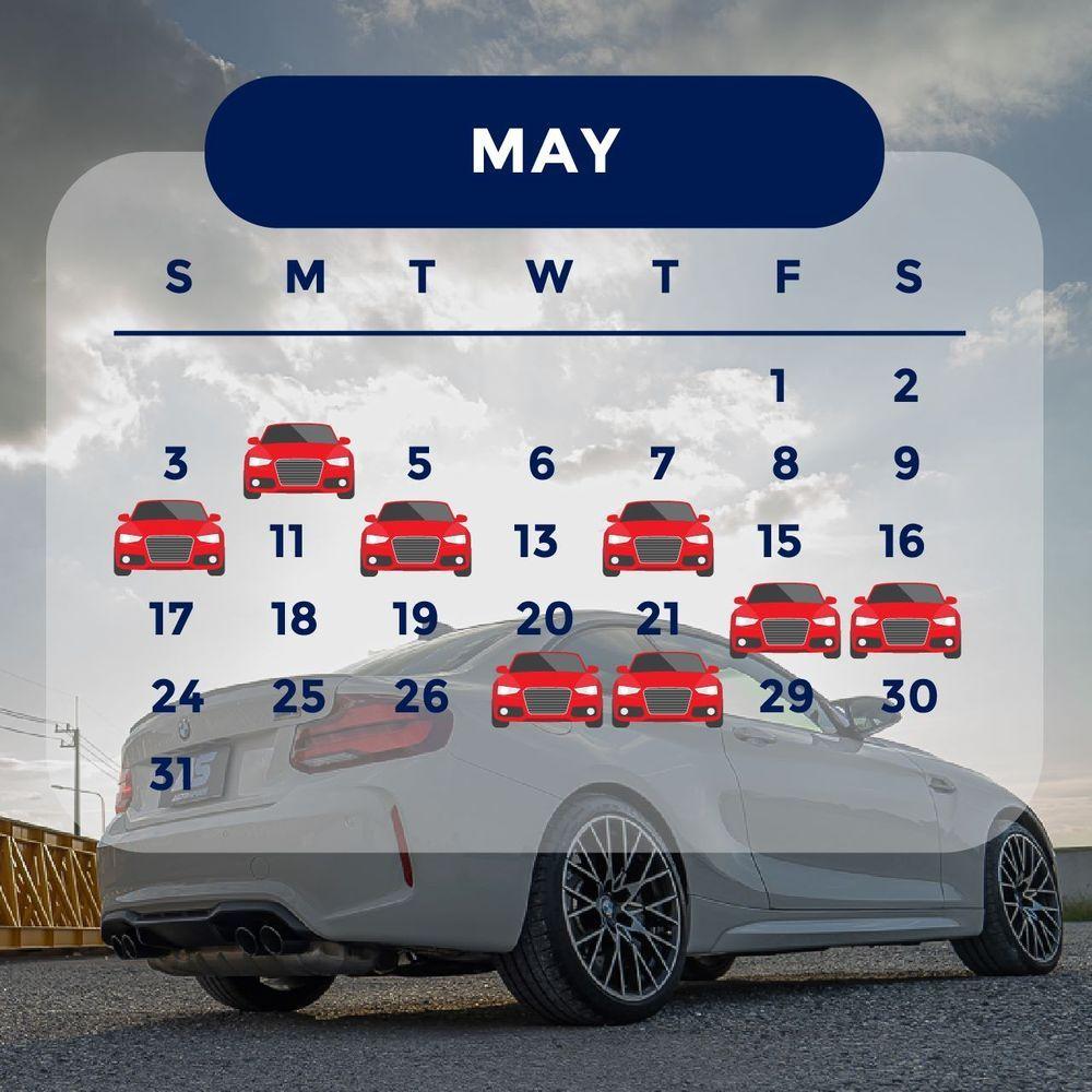 ฤกษ์ออกรถ 2563 เดือนพฤษภาคม ออกรถวันไหนดี