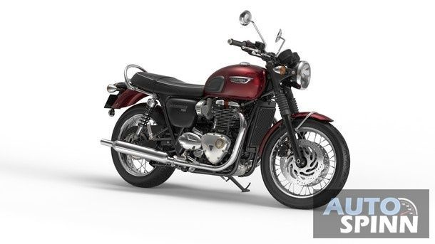Bonneville T120 Cinder Red Front Quarter