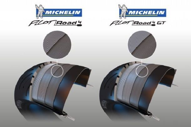 MICHELIN Pilot Road 4 vs MICHELIN Pilot Road GT_ecorche_w580_h387