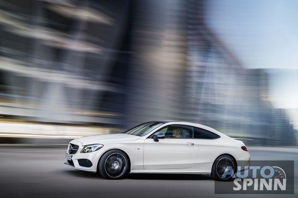 Mercedes-AMG C 43 Coupé, Exterieur: diamantweiß, Kraftstoffverbrauch (l/100 km) innerorts/außerorts/kombiniert: 10,6/6,2/7,8 CO2-Emissionen kombiniert: 178 g/km ; Mercedes-AMG C 43 Coupé, exterior: diamond white, Fuel consumption (l/100 km) urban/ex urban/combined: 10.6/6.2/7.8 combined CO2 emissions: 178 g/km;