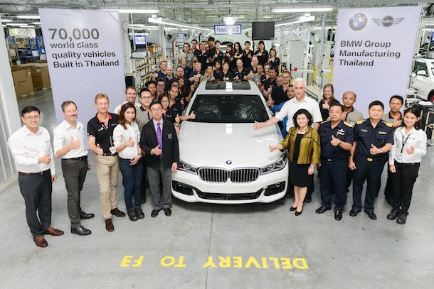 Picture BMW Group Manufacturing Thailand Celebrating 70000 vehicles TH