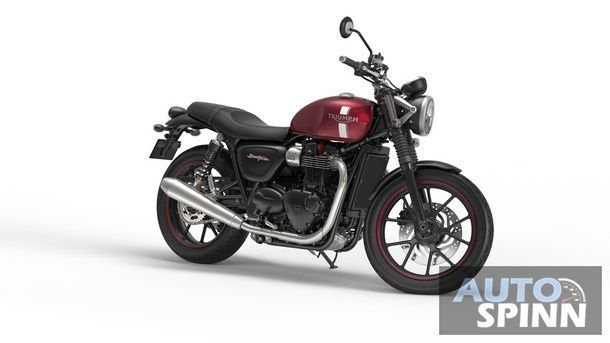 Street Twin Cranberry Red Front Quarter