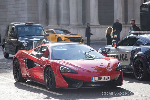 Filming of 'Transformers: The Last Knight' in Central London Featuring: Lamborghini Where: London, United Kingdom When: 11 Sep 2016 Credit: WENN.com