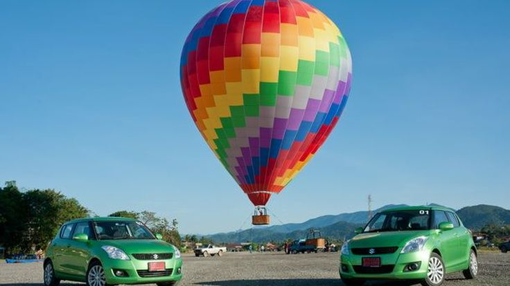ขับท่องเที่ยวพร้อมทดสอบสมรรถนะ Suzuki Swift Energy Green  บนเส้นทาง หนองคาย-เวียงจันทร์-วังเวียง  ต้อนรับ AEC
