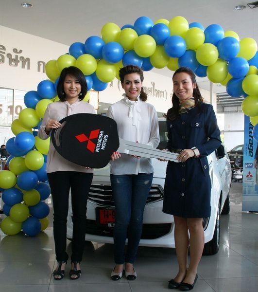 คิมเบอร์ลี่เลือกซื้อ Mitsubishi Attrage เป็นรถคู่ใจ