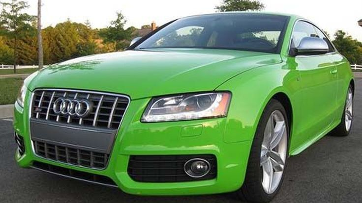 ดูดีแบบเขียวๆ! Audi S5 Coupe รุ่นปี 2009 สีเขียว Porsche Lime Green ประกาศขายที่ Ebay