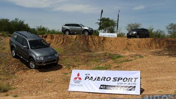 ทดสอบขับ  2014 Mitsubishi Pajero Sport  4WD  แบบ 4x4  พร้อมนั่ง Hot Lap  Masuoka อดีตแชมป์ Rally Dakar