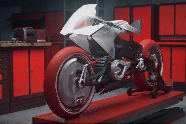 นักศึกษาปั้น CGI ของ Bimota EB1 Concept รถจักรยานยนต์ไฟฟ้าสวิงอาร์มคู่หน้า-หลัง