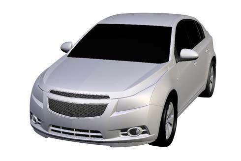 ภาพต้นแบบ Chevrolet Cruze Hatchback 5 ประตู ถูกเผยระหว่างยื่นเรื่องขอจดลิขสิทธิ์