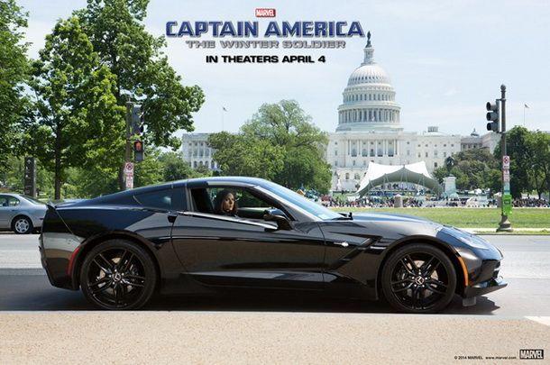 """ยังจำกันได้ไหม Black Widow ใน Avengers ขับ Corvette Stringray ใน Captain America """"The Winter Soldier"""""""
