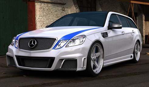 รถแต่ง Mercedes-Benz E63 AMG Estate ปี 2011 ผลงานของ Arturo Alonso จาก GWA Tuning