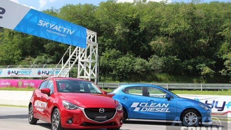 รีวิวทดสอบ 2015 มาสด้า2 สกายแอคทีฟ ดี   (Mazda2 Skyactiv D)   ครั้งแรกในไทย กับการขับในสนามโบนันซ่าฯ
