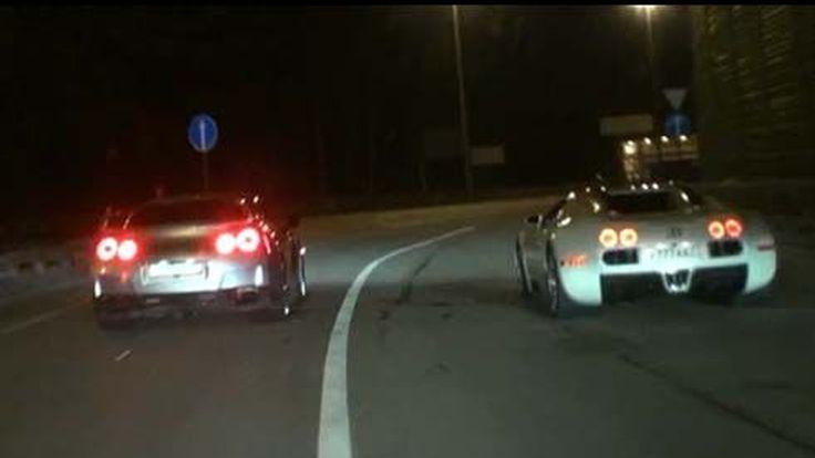 ศึกข้ามรุ่น Bugatti Veyron vs Nissan GT-R หรูใหญ่กระทบไหล่หล่อดุ ถนนเส้นนี้ไม่ได้มีแค่หนึ่ง