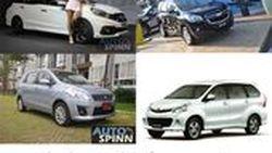เปรียบเทียบอเนกประสงค์ Honda Mobilio กับ Toyota Avanza, Chevrolet Spin, Suzuki Ertiga