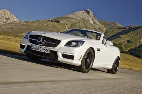 เผยโฉม Mercedes-Benz SLK 55 AMG ปี 2012 ก่อนเปิดตัวที่แฟรงค์เฟิร์ต