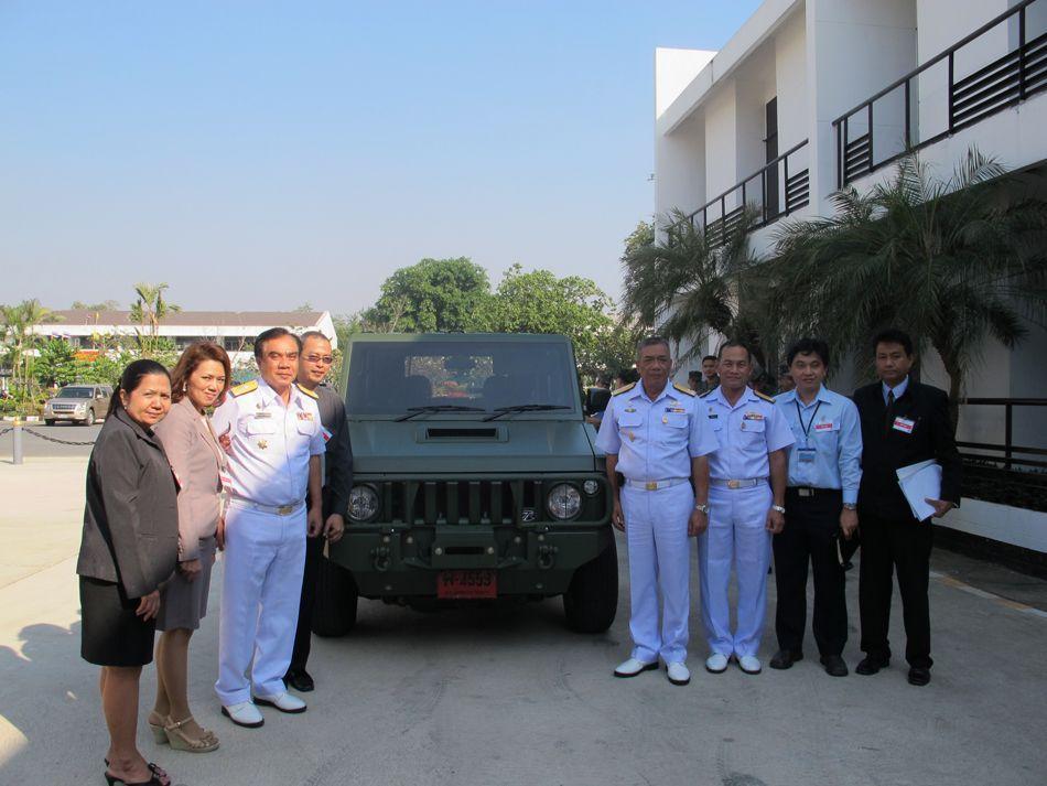ไทยุร่งฯ ส่งมอบรถ TR MUV4 ให้หน่วยนาวิกโยธินฯ ทดสอบสมรรถนะ