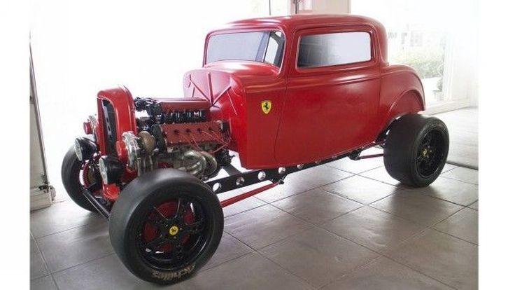 The Fordrrari การผสมผสานระหว่างรถ Ford ปี 1932 และเครื่องยนต์ Ferrari กับพลังแรงม้าระดับ 950 แรงม้า