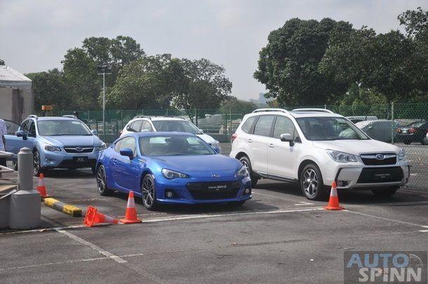 1st impression ทดลองขับ Subaru 3 รุ่น 4 คัน  XV(CBU), XV(CKD),  Forester XT และ BRZ  แบบ Gymhana ในลานปิด